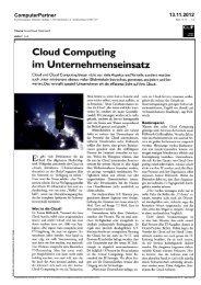 Cloud Computing im Unternehmenseinsatz - EuroCloud.Austria