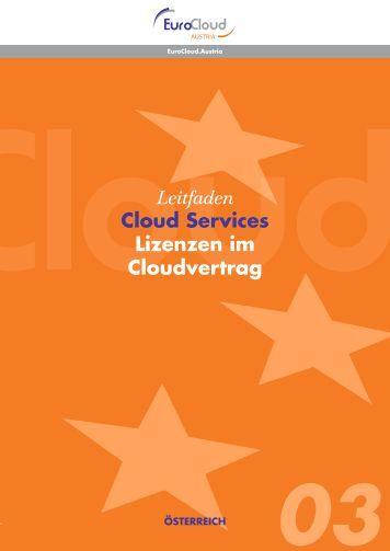 Leitfaden Cloud Services Lizenzen im Cloudvertrag - EuroCloud ...