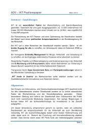 ADV – IKT Positionspapier