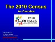 2010 Census Presentation to Dallas Region