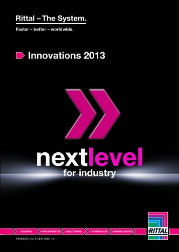 Innovations 2013 for industry - Rittal