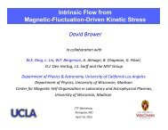 Intrinsic Flow from Magnetic-Fluctuation-Driven Kinetic Stress in a ...