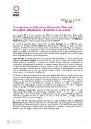 Conclusiones del III Seminario Global sobre Diversidad Lingüística ...