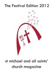 The Festival Edition 2012 st michael and all saints' church magazine