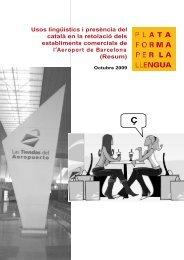 Resum de l'estudi (PDF) - Plataforma per la Llengua