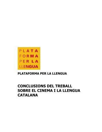 conclusions del treball sobre el cinema i la llengua catalana