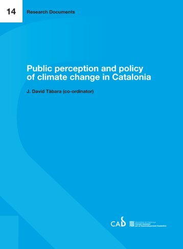Public perception and policy - Generalitat de Catalunya