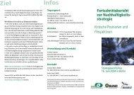 Workshop Fortschrittsbericht - Nachhaltigkeits-Check