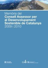 Memòria CADS 2009-2010 - Generalitat de Catalunya