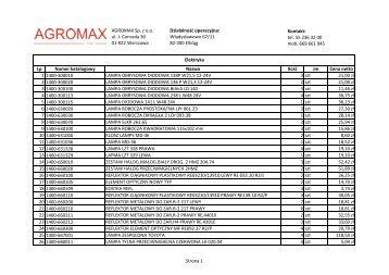 Elektryka - Rolnictwo - AGROMAX