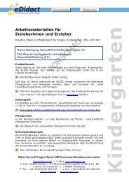 Arbeitsmaterialien Kita - beim OLZOG Verlag