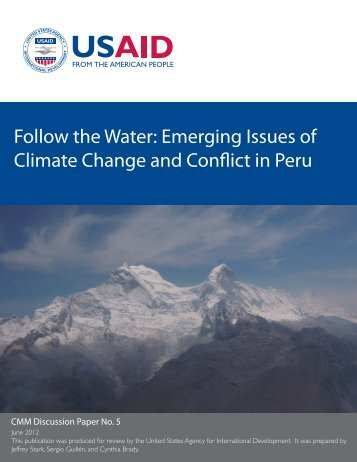 Emerging Issues of Climate Change and Conflict in Peru - FESS ...