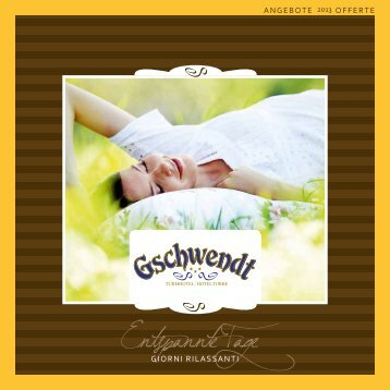 Listino prezzi 2013 - Hotel Gschwendt