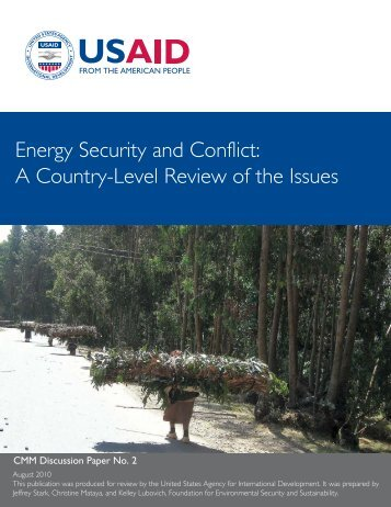 Energy Security and Conflict - FESS :: Foundation for Environmental ...
