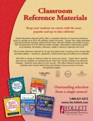 Outstanding selection from a single source! - Follett Educational ...