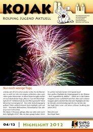 KOJAK Ausgabe 2012/4 - Kolpingjugend Diözesanverband ...