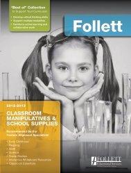Classroom maniPulatiVes & sChool suPPlies - Follett Educational ...