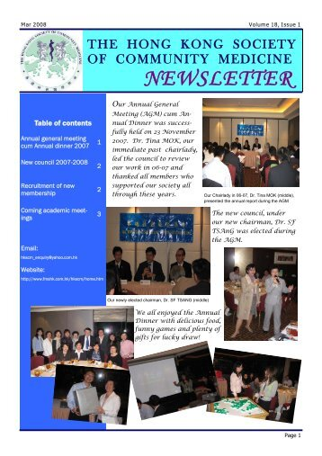 NEWSLETTER - The Federation of Medical Societies of Hong Kong