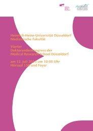 Vollständiges Programmheft - MedRSD - Heinrich-Heine-Universität ...