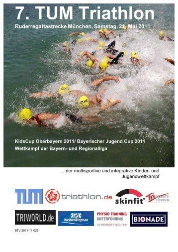 7. TUM Triathlon Ruderregattastrecke München, Samstag, 21. Mai ...