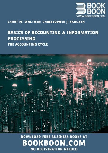 Basics of Accounting & Information Processing - The Accounting Cycle