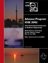 ICSE 2001 Advance Program - International Conference on ...