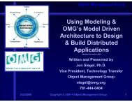 Object Management Group - International Conference on Software ...