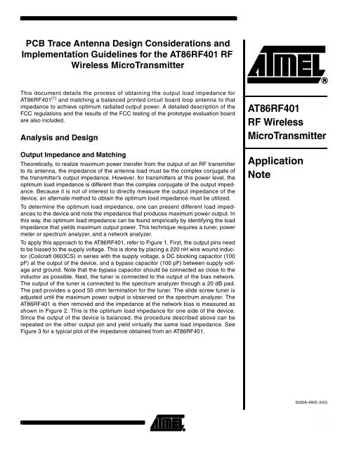 PCB Trace Antenna Design Considerations and     - Fisher PCB