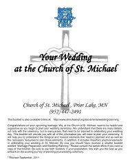Planning Your Wedding Ceremony Booklet  - Church of St. Michael