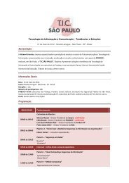 Tecnologia da Informação e Comunicação ... - Network Eventos