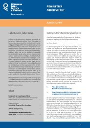 Newsletter Arbeitsrecht - HLFP