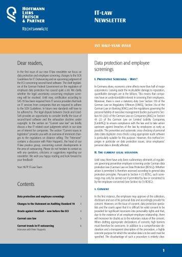 IT-law Newsletter - HLFP