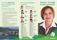 Namsos - en trygg og aktiv kommune - Venstre
