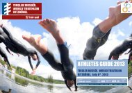 Download the Athletes Guide 2013 - ITU World Triathlon Kitzbuehel
