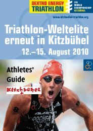 Athlete guide 2010 - ITU World Triathlon Kitzbuehel - International ...