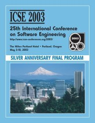 Cover pages - International Conference on Software Engineering