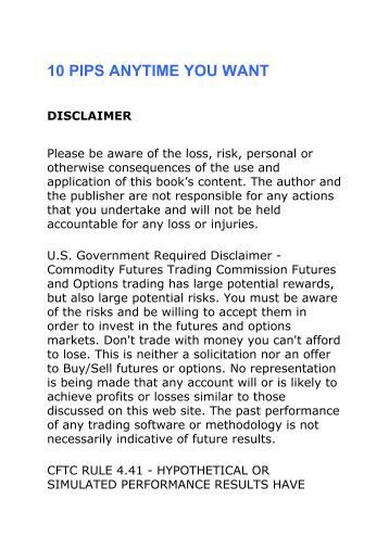 Disclaimer for forex education