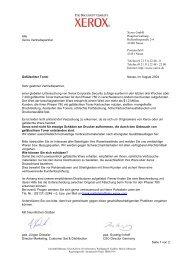Alle Xerox Vertriebspartner Xerox GmbH ... - OpenStorage AG