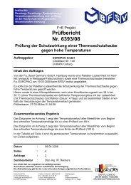 Thermohaube Klimakammertest BFSV - Leckebusch GmbH & Co KG