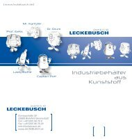 Flyer - Leckebusch GmbH & Co KG
