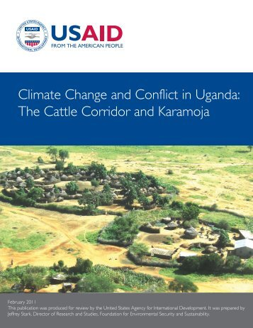 Climate Change and Conflict in Uganda: The Cattle Corridor - FESS ...