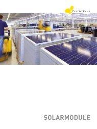 Centrosolar Solarmodule Broschüre - AEET Energy Group GmbH