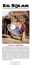 Jahresinfo 2012 - EG Solar
