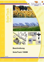 Beschreibung SolarTrack 1500M - AEET Energy Group GmbH