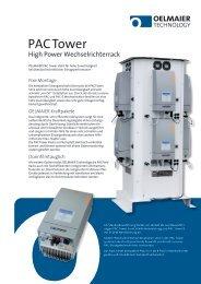 PAC Tower Datenblatt - AEET Energy Group GmbH
