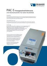 PAC-S Datenblatt - AEET Energy Group GmbH
