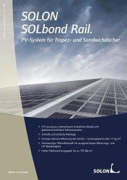 Solon SOLbond Rail Datenblatt - AEET Energy Group GmbH