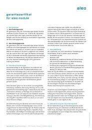 garantiezertifikat für aleo-module - AEET Energy Group GmbH