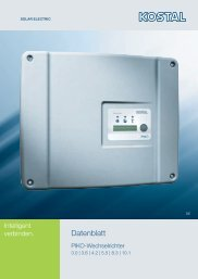 Datenblätter PIKO Wechselrichter - Schirra Solar