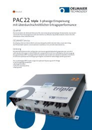 PAC 22 Triple Datenblatt - AEET Energy Group GmbH